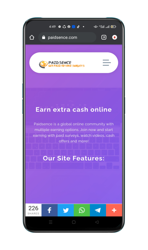 Paidsence Get Paid to take Surveys
